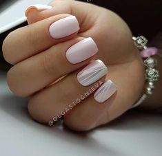 "If you're unfamiliar with nail trends and you hear the words ""coffin nails,"" what comes to mind? It's not nails with coffins drawn on them. It's long nails with a square tip, and the look has. Shellac Nails, Acrylic Nails, Nail Polish, Nail Nail, Easy Nails, Simple Nails, White Nails, Pink Nails, Nailed It"