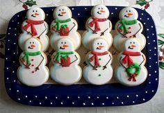 Muñeco de nieve de la Navidad Galletas