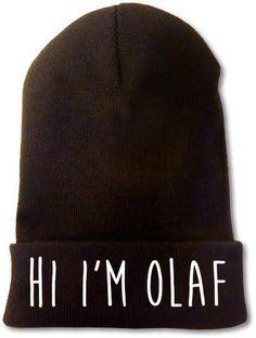 Hi I'm Olaf beanie - Fresh-tops.com