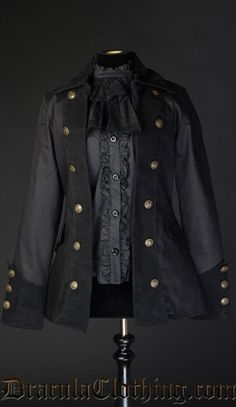 Women's pirate coat from Dracula clothing!