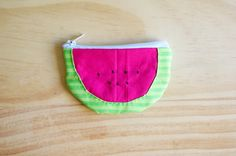 a little birdy blog: DIY // watermelon coin purse  Get most of my DIY inspirations from this blog :: a little birdy blogger