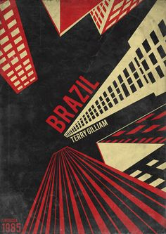 Brazil Poster by Swoboda (1985) - takes after the Man with a Movie Camera Poster by the Stenberg brothers (1929)