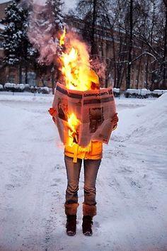 Tim Parchikov, 'Burning News'