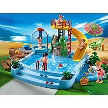 Playmobil - Piscine avec toboggan - 4858