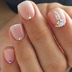 Cute Simple Nails, Cute Short Nails, Simple Acrylic Nails, Short Nails Art, Acrylic Nail Designs, Trendy Nails, Cute Nails, Nail Art Designs, Cute Easy Nail Designs