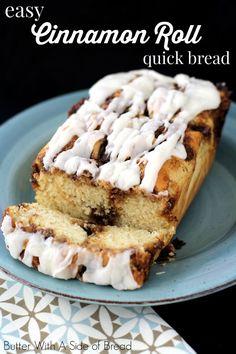 Easy Cinnamon Roll Quick Bread