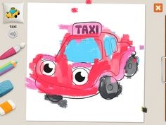 """""""taxi"""" #coloring #pages #memollow - #app for #kids"""