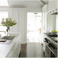 beautiful kitchen - love the range and marble countertops