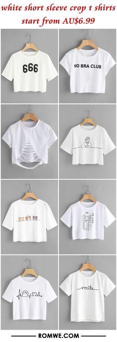 4d1b0f520 white short sleeve crop t shirts from AU$6.99 Teen Crop Tops, Vintage  Hippie,