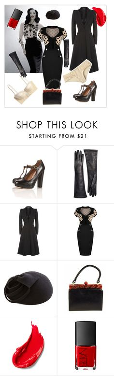 """""""say vintage....."""" by louisaokonye ❤ liked on Polyvore featuring Brooks Brothers, Alexander McQueen, Dita Von Teese, Miusol, Estée Lauder, NARS Cosmetics and vintage"""
