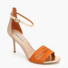 Charles David Margie Heel In Orange & Multicolor