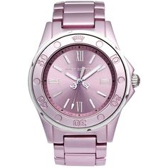 Juicy Couture Watch, Women's Rich Girl Pink Aluminum Bracelet 41mm 1900888