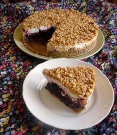 Dobrůtky od Anetky: Švestkový koláč s MÁKEM a tvarohem Sweet Desserts, Dessert Recipes, Vegan Cake, Vegan Gluten Free, Bagel, Food Hacks, Cheesecake, Food And Drink, Sweets
