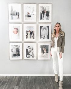 "Carly Cristman on Instagram: ""our house is slowly coming together! I shared our gallery wall on stories this weekend and got so many DM's about it so I thought I would…"" Wedding Photo Walls, Picture Wall, New Living Room, Living Room Decor, Bedroom Decor, Carly Cristman, Frames On Wall, Simple House, Home Accents"