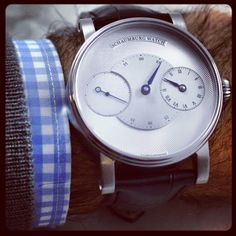 Schaumburg Trible Unikatorium watch. Authorized Dealers!  Beautiful blue hands $3,325. Mens
