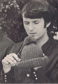 The Monkees, Mike Nesmith tending to his wool hat Rock N Roll Music, Rock And Roll, Short Haired Pointer, Michael Nesmith, Peter Tork, Davy Jones, The Monkees, The Good Old Days, Cute Guys