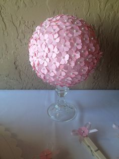Girly centerpiece For classy baby shower from Divine Crafted