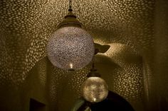 Moroccan lighting and design