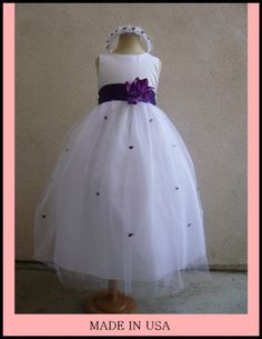 The purple flower girl dress :)