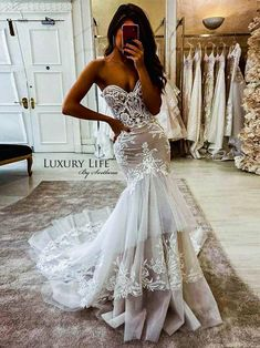 Wedding Dress Mermaid Lace, Wedding Dress Black, Country Wedding Dresses, Princess Wedding Dresses, Best Wedding Dresses, Mermaid Dresses, Lace Dress, Tulle Wedding, Fashion Wedding Dress
