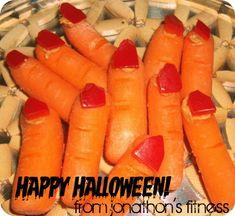 Halloween Carrot Fingers