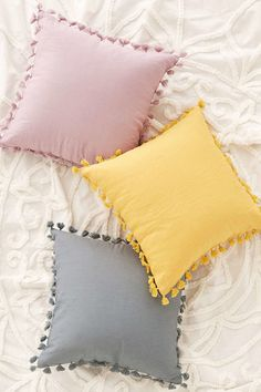 Marisa Tipped Faux Fur Pillow Magical Thinking Avery Tassel Pillow Cute Pillows, Diy Pillows, Decorative Pillows, Yellow Throw Pillows, Pillow Ideas, Colorful Pillows, Diy Pillow Covers, Sofa Cushions, Floor Cushions