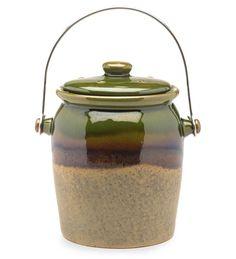 Glazed Compost Crock   Kitchen Composters   Plow