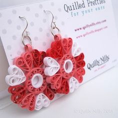 Paper Twirlies quilled earrings