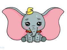 cn cn Dumbo for Maria Kawaii Disney, 365 Kawaii, Arte Do Kawaii, Easy Doodles Drawings, Cute Food Drawings, Cute Disney Drawings, Kawaii Girl Drawings, Cute Animal Drawings Kawaii, Cute Girl Drawing