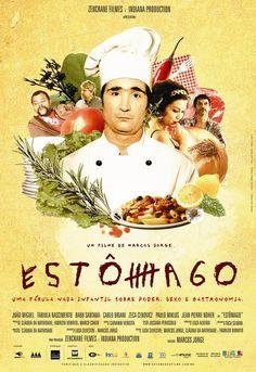 """ESTÔMAGO é a história da ascensão e queda de Raimundo Nonato, um cozinheiro com dotes muito especiais. Trata de dois temas universais: a comida e o poder. Mais especificamente, a comida como meio de adquirir poder. E pode ser definido como """"uma fábula nada infantil sobre poder, sexo e culinária""""."""