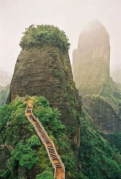 Luotuofeng Peak | Sichuan, China | Asia | Steps | Mountain