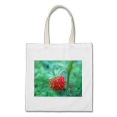 www.zazzle.com/fotosbykarin : Bag wild strawberry