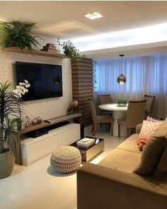 Small Living Rooms, Home Living Room, Living Room Decor, Home Room Design, Interior Design Living Room, House Design, Interior Decorating, Living Room Tv Unit Designs, Apartment Interior