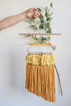 Beautiful, Bohemian Hand Woven Wall Hangings by wovenrebel Woven Wall Hanging, Wall Hangings, Plant Hanger, Hand Weaving, Etsy Seller, Creative, Beautiful, Hand Knitting, Weaving