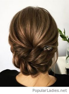 Braided updo with accessory