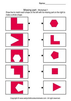 shapes worksheets for kindergarten Shapes Worksheet Kindergarten, Shapes Worksheets, Kids Math Worksheets, In Kindergarten, Learning Activities, Preschool Activities, Coding For Kids, Math For Kids, Puzzles For Kids
