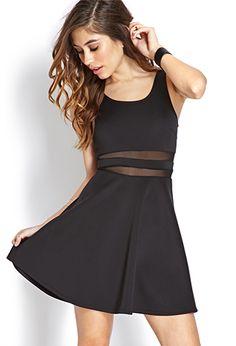Bombshell Mesh Striped Dress | FOREVER21 - 2000124826 pretty
