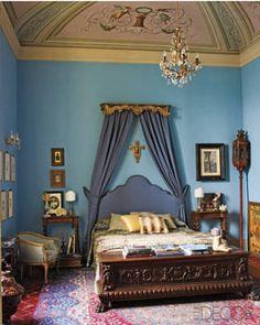 18th century fresco in the bedroom