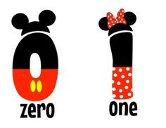 Mickey and Minnie Mouse Numbers