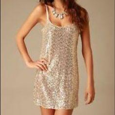 Solenio Gold Sequin Dress