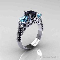 64 Best Blue Diamond Engagement Rings Images Diamond Engagement