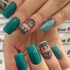 Clique na Foto e Receba o Curso Profissional de Unhas de Gel, Acrigel e de Fibra. Creative Nail Designs, Creative Nails, Acrylic Nail Designs, Nail Art Designs, Stylish Nails, Trendy Nails, Country Nails, Lace Nails, Nail Art Videos