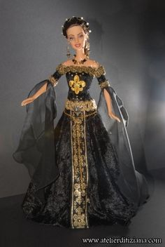 fashion doll, princess dress, Barbie OOAK UNICA140 - Immagine principale