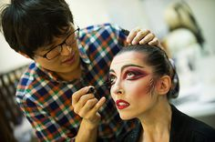 Royal Ballet: Mara Galeazzi has her Firebird makeup applied