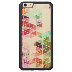 Pink Grungy Triangle Design