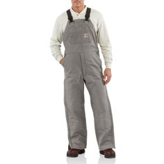 43a37b81f0a2 Carhartt Men s Flame-Resistant Duck Bib Quilt Lined Overalls