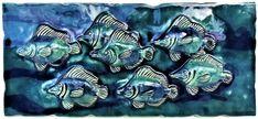 Hawaiian Sea Turtle, Hawaiian Designs, Handmade Kitchens, Hanging Art, Artwork, Tile, Shower, Bathroom, Rain Shower Heads