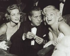 "Party for ""How to Marry a Millionaire"" with Lauren Bacall and Humphrey Bogart~"