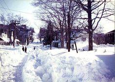 The Great blizzard of 1978. Taken on Maple Street in Woonsocket, Rhode Island.