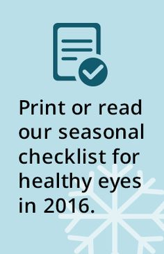 Please click here for the Eye Health Checklist PDF